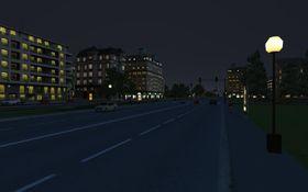 Natt i storbyen.