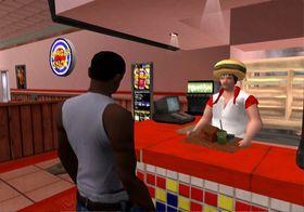 CJ feirer med en burger