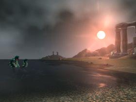 Trehodet Hydra i solnedgang. En klassiker!