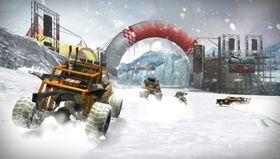 Snø og høy fart kan bli en morsom kombinasjon.