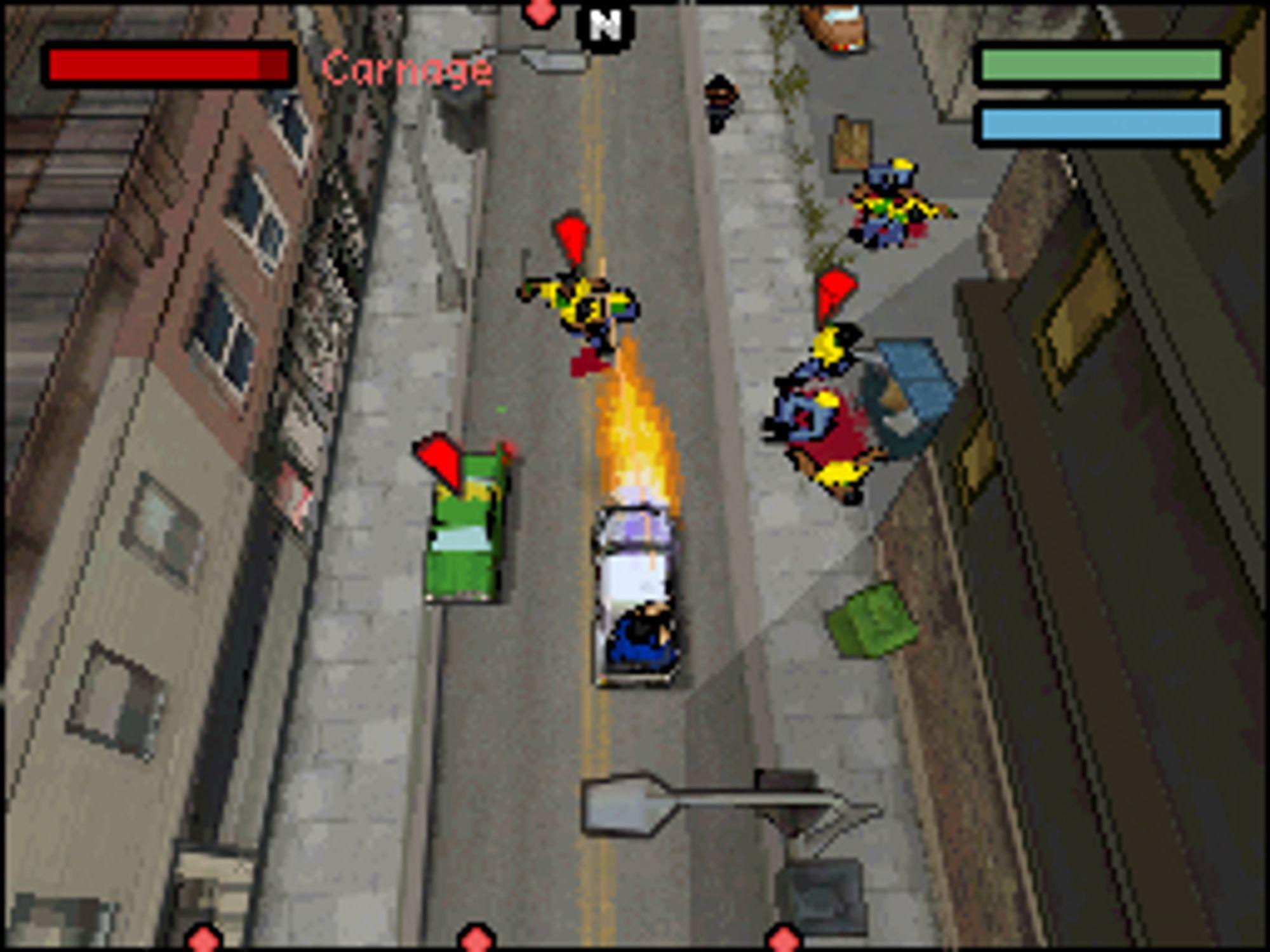 Skjermbilde fra DS-versjonen.