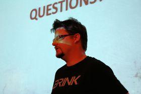 STERKE MENINGER: Paul Wedgewood står bak spennende Brink. (Foto: Mikael H. Groven/Gamer.no)