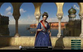 Dronning Maria I av Portugal er usikker på om hun har truffet oss før eller ikke.
