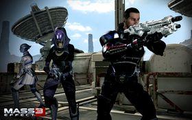 Liara, Tali og Shepard.