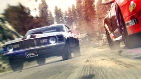 Mustang på tur.