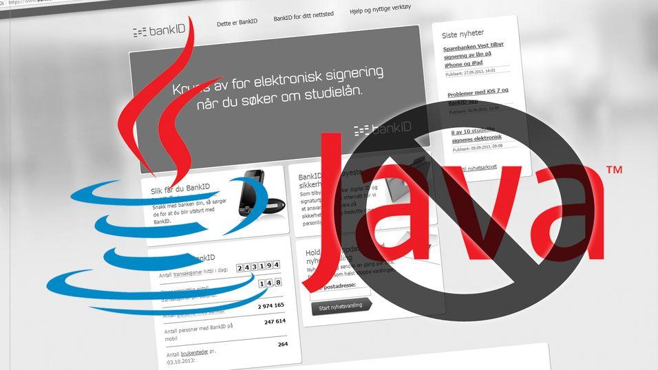 Du må vente enda lenger på Java-fri nettbank
