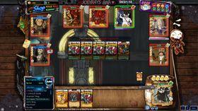 Arcade-modusen byr på masse brukergenerert innhold. Dette er kortspillet BarCraft.