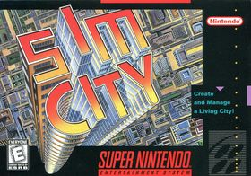 Coveret til SimCity for SNES.