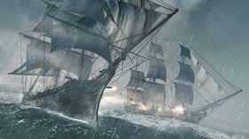 Sjøkamp blir en stor del av spillet.