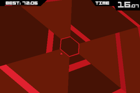 Super Hexagon.