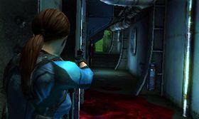 Skjermbilete frå Resident Evil: Revelations på 3DS.