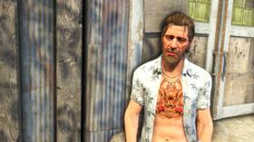Buck med buck på brystet.