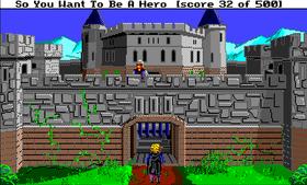 Utenfor baronens slott.