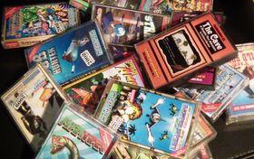 Commodore 64-spill kom ofte i slike esker. Akkurat disse spillene er imidlertid ikke fra åttitallet.
