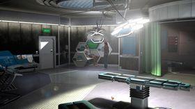 Nina i et skummelt laboratorium.