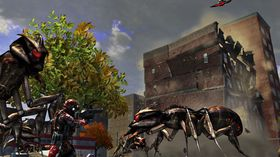 Insektaction i Earth Defense Force: Insect Armageddon.