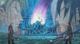 Viktige hendingar blir gjerne fortalde gjennom anime-sekvensar.