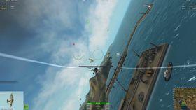 Focke-Wulf Fw 56 forsvarer havna.