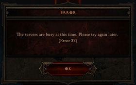 Diablo IIIs Error 37, eller «vi har trøbbel, så du får ikke spille».