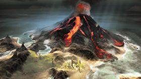 Vulkanutbrudd (sjekk produktet for flere ferske skjermbilder).