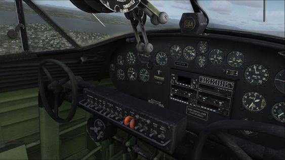 Sånn ser en av Aerosofts Catalina-cockpiter ut i spillet.