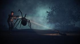 Sjølvsagt møter vi ein edderkopp eller to.