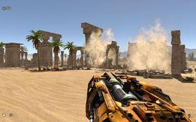 Spillets fysikk sikrer imponerende ødeleggelse av uvurderlige fornminner.