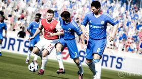 Fysisk spillerkontakt er mer fremtredende i FIFA 12.