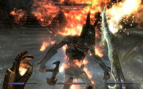 Våpen og magi = heftig kombinasjon i Skyrim.