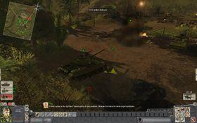 Når fienden angriper med full styrke er stridsvognen en tilsynelatende trygg plass.