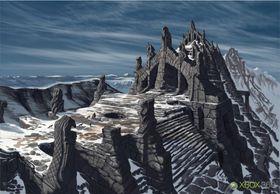 Mystisk sted i Skyrim.