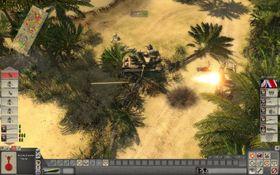 Heftig ildgivning fra panservogner i ørkenen.