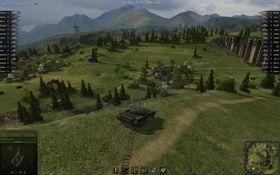 Min T-54 og meg i nydelige kontinentaleuropeiske landskapsformer.