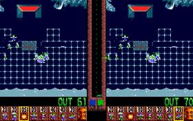 To spillere ved hjelp av delt skjerm.