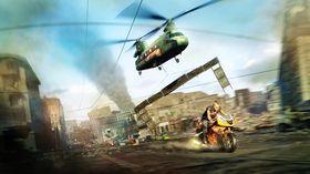 I Motorstorm Apocalypse raser byen sammen rundt deg mens du kjører. Da hadde det kanskje vært en idé å bruke hjelm?