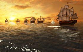 Sjøkamp med seilskuter kan være både spennende og langsomt samtidig.