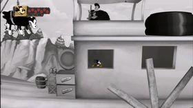 I overgangen mellom brettene spiller vi Mikke i klassiske tegnefilmer. Kjenner du igjen Steamboat Willie?