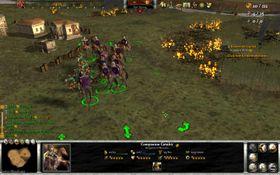 Det mektige kavaleriet mot noen stakkars lette infanterister.