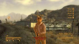 Fargetemaet er nå oransje i stedet for grønt som i Fallout 3.