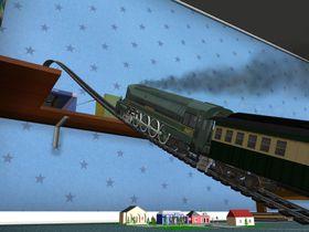 Slike tog hadde vi da jeg var ung. I den tiden måtte togene være solide, for de ble stadig angrepet av dinosaurer.
