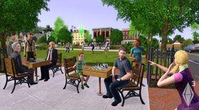 Forstadsliv i PC-utgaven av The Sims 3.