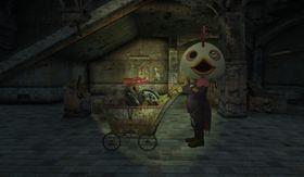 Denne mystiske kjøpmanen er blant de underlige figurene du møter.