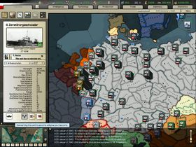 Tyskland marsjerer vestover