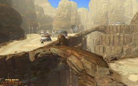 Landskap i klassisk Star Wars-stil er selvsagt en del av dette spillet.
