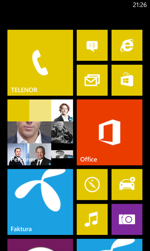 Brukergrensesnittet i Windows Phone 8.