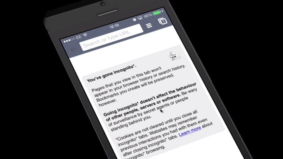 Du er ikke anonym i Chrome på iOS 7