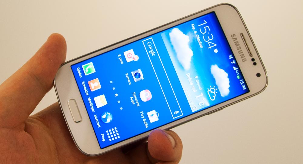 Designen er omtrent det eneste Galaxy S4 Mini har til felles med Samsungs toppmodell.