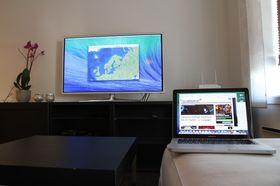 Bruk av flere skjermer er gjort bedre i OS X Mavericks.