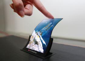 En 5-tommers bøyelig OLED-skjerm fra LG Display.
