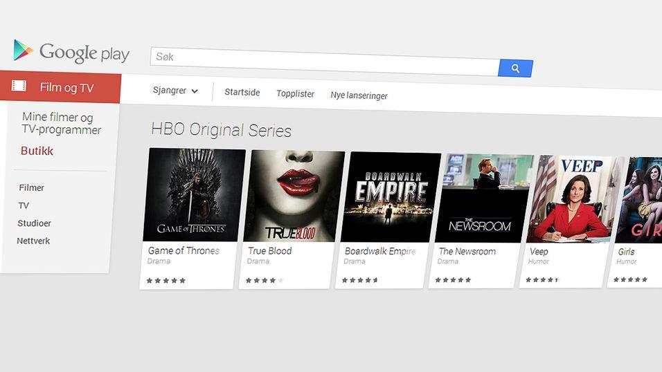 Nå får du HBO-serier på Google Play